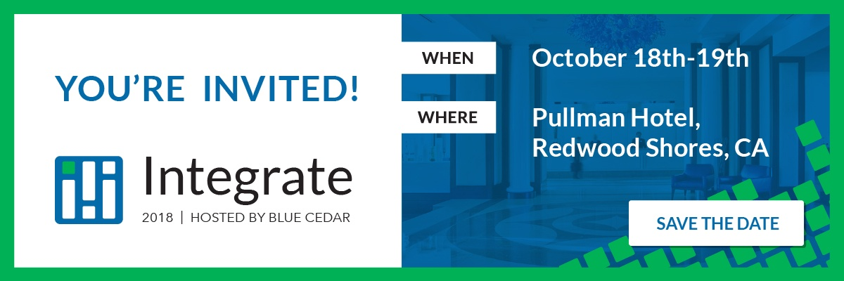 You're Invited: Blue Cedar Integrate- October 18th-19th 2018